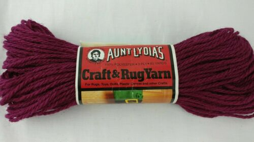 Aunt Lydias Heavy Rug Yarn 70 COLORS 60 70 210 Yd Skeins Polyester Vtg You Pick