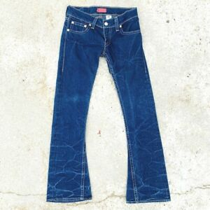 levi-039-s-women-039-s-jeans-size-9-tough-boot-stretch-type-1-red-tab-dark-wash-denim