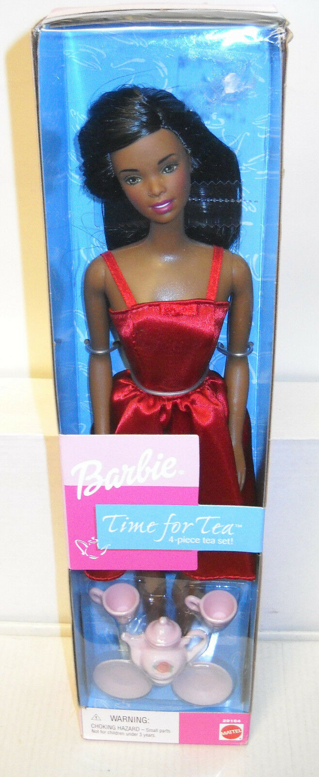 Nunca quitado de la Caja Mattel Kay Bee Toys Tiempo Para Té afroamericano Barbie