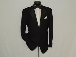 Corneliani-men-039-s-1-Button-Notch-lapels-formal-tuxedo-jacket-coat-44-LONG