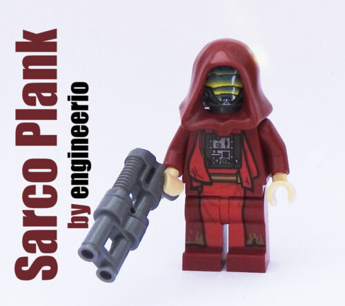 Custom Sarco Plank Star Wars minifigures on lego bricks