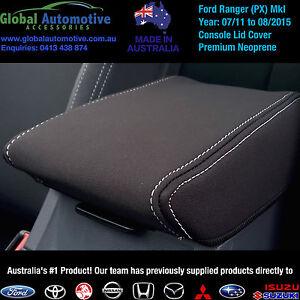FORD-RANGER-PX-MkI-NEOPRENE-CONSOLE-LID-CAR-SEAT-COVERS-XL-XLS-XLT-Wildtrak