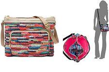 Kipling Womens April Crossbody Basket Weave Patent Combo Bag Multi Color