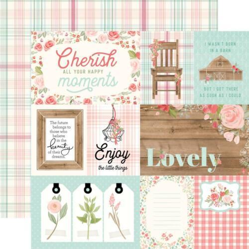 "Farmhouse Market 4x6 JOURNALING CARDS Carta Bella 12x12/"" d//sided paper"