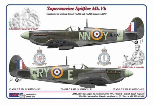 Vb-czechoslavak Pilotes /& Chiens de No.310 /& No. AML 1//32 Supermarine Spitfire Mk
