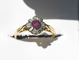 18ct-Yellow-Gold-Ruby-and-Diamond-ring