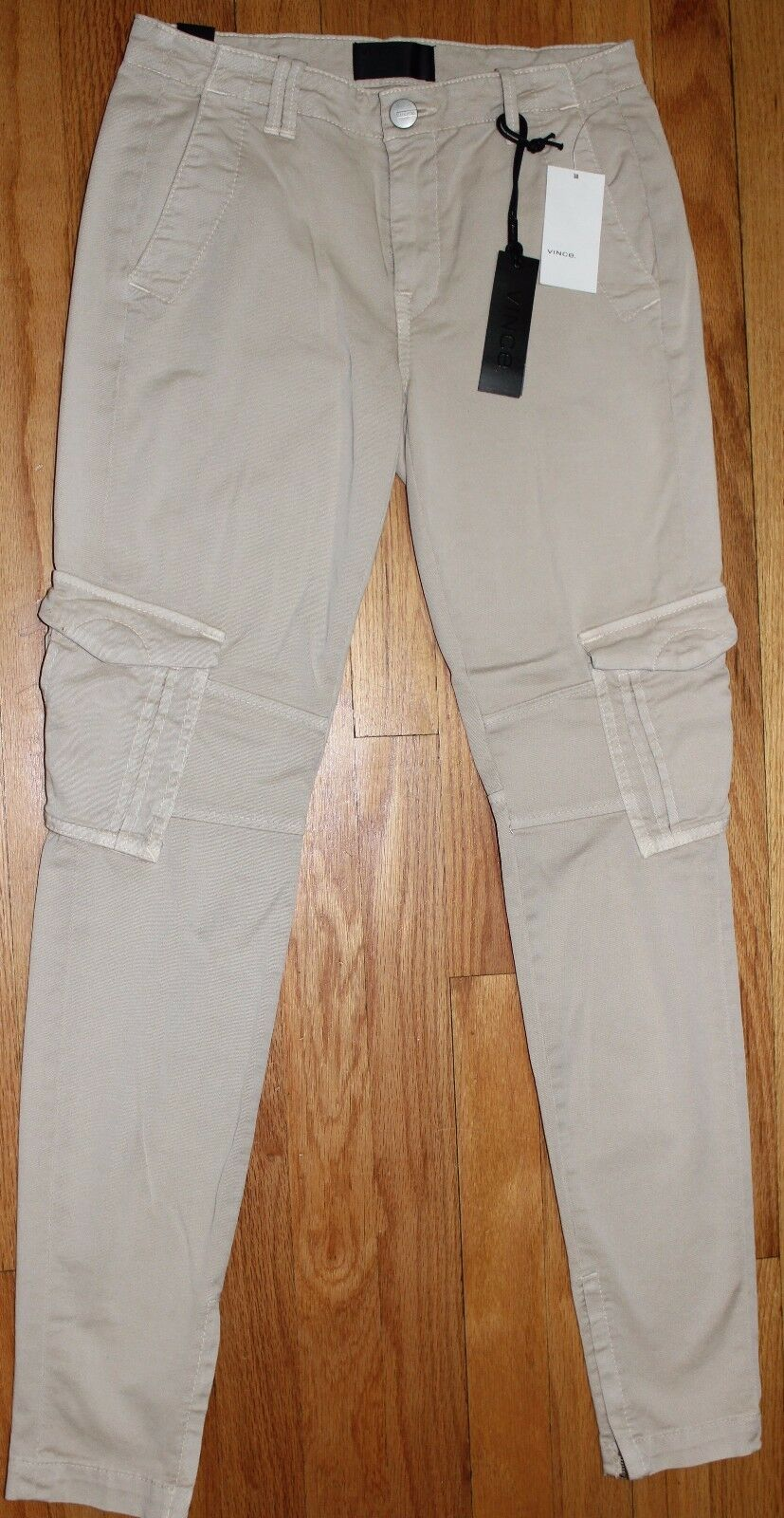 235 VINCE TAN MILITARY ANKLE ZIP CARGO PANT SZ 24