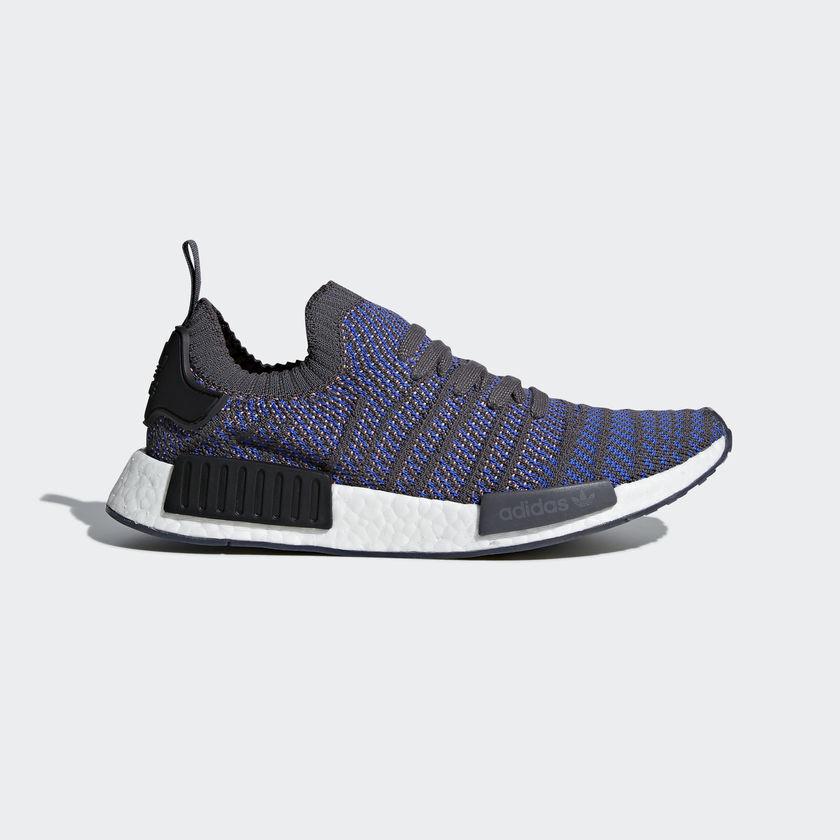 Adidas Men's NMD_R1 STLT PRIMEKNIT shoes Hi-Res bluee Black CQ2388 c
