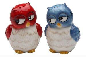 Pair of Owls Salt and Pepper Shaker Set