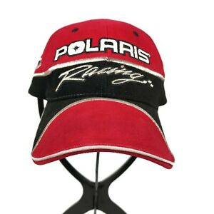 Pure-Polaris-Racing-Watercraft-Motorcycle-Red-Strapback-One-Size-Mens-Hat-Cap
