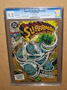 CGC-9-2-SUPERMAN-MAN-OF-STEEL-18-4TH-PRINT-1ST-DOOMSDAY-batman-fourth-variant-nm