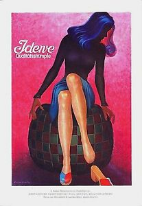 Original vintage poster print JDEWE SWISS STOCKINGS 1943