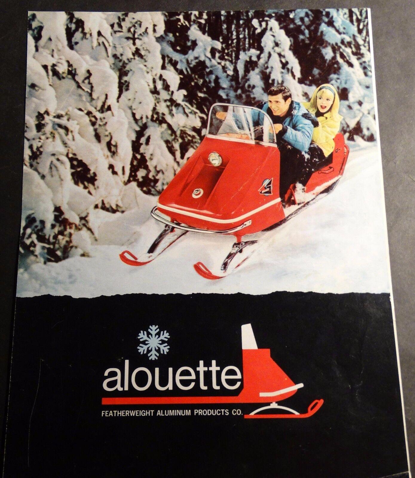 RARE VINTAGE 1969 ALOUETTE SNOWMOBILE SALES BROCHURE 4  PAGES  (812)  online discount