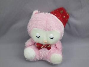 NEW-PINK-KITTY-CAT-CHRISTMAS-SANTA-HAT-GOLD-CHRISTMAS-TREE-PLUSH-STUFFED