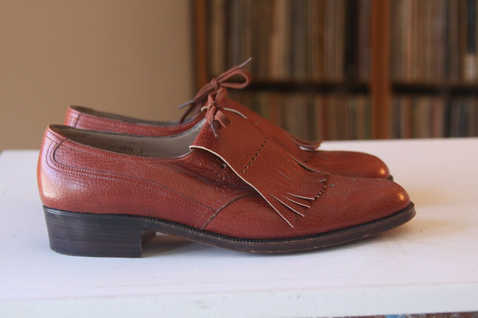 Belgian shoes By Debusschere Brown Leather Lace Lace Lace Up Kiltie Oxfords Size 7 AAAA 4a277d
