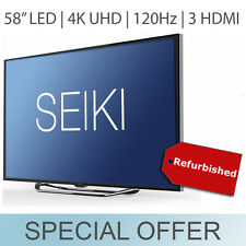 "Seiki 58"" 4K UHD 2160p ULTRA HD LED TV 120Hz w/ 3 HDMI & VGA Black - SE58UY06"