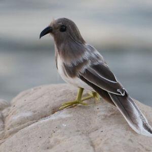 Fake-Artificial-Bird-Grey-Bird-Realistic-Imitation-Home-Garden-Decor-14cm