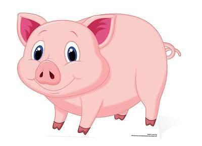 Aufrichtig Lucky Pig (glücksschwein) Cute Large Cardboard Cutout / Stand Up / Standee Zu Hohes Ansehen Zu Hause Und Im Ausland GenießEn