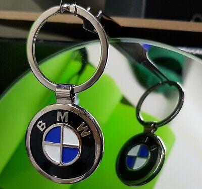 BMW Logo Car Keyring Beemer Key Chain Stylish Double printed on Both Sides