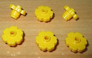 6x Blume Blüten 2x2 in Transparent Pink Lego City Pflanzen