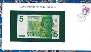Banknotes-of-All-Nations-Netherlands-5-gulden-1973-P-95-UNC-2485