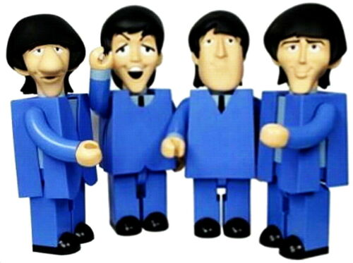 """The Beatles /""""Can/'t Buy Me Love/"""" Action Figures 4-Pack Commemorative Edition"""