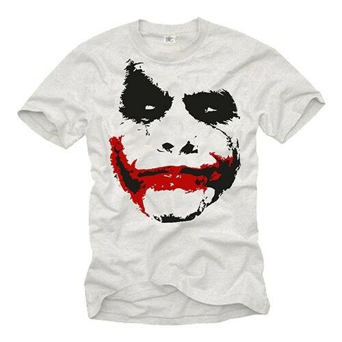 Cooles Dark Bat Herren T-Shirt mit Joker Man Knight - Männer Nerd Shirt