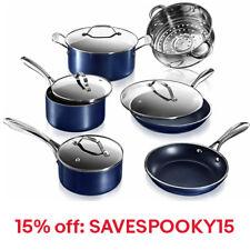 Granitestone Blue 10 Piece Ultra Nonstick Durable Pots and Pans Cookware Set