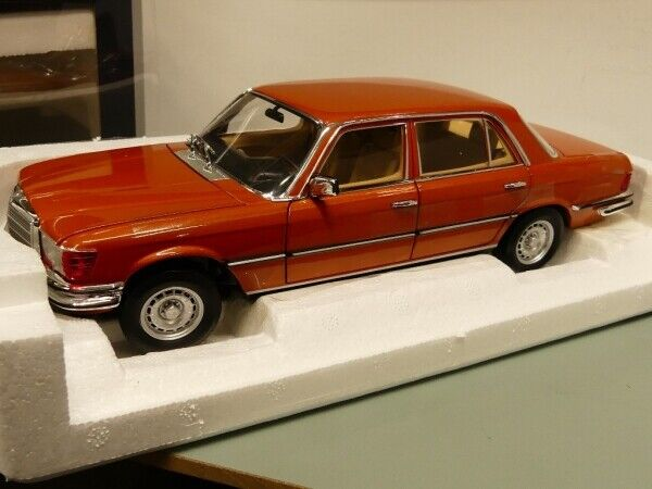 1 18 norev MB 450 SEL 6.9 1976 Inca Orange Metallic 183459