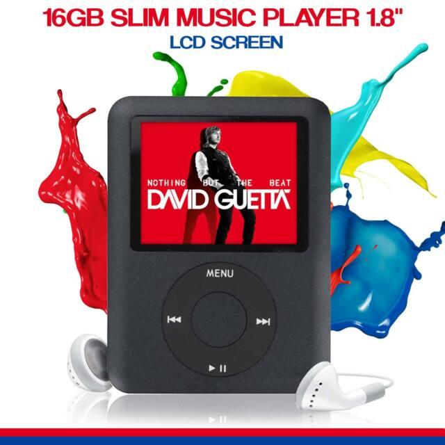New 2018 Slim LCD 1.8 in Music Media Lecteur Vidéo 16 Go mp4 mp3 Radio Recorder UK