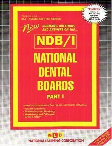 National Learning Corporation-National Dental Boards (Ndb) / Part I BOOK NEW