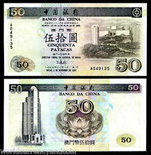 MACAO MACAU 50 PATACAS P92 1997 BUS UNC BOC CHINA CURRENCY MONEY BILL BANKNOTE