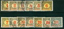 Bosnia-Erzegovina AFFRANCATURA MARCHE Michel n. 1-13 cifre disegno timbrato