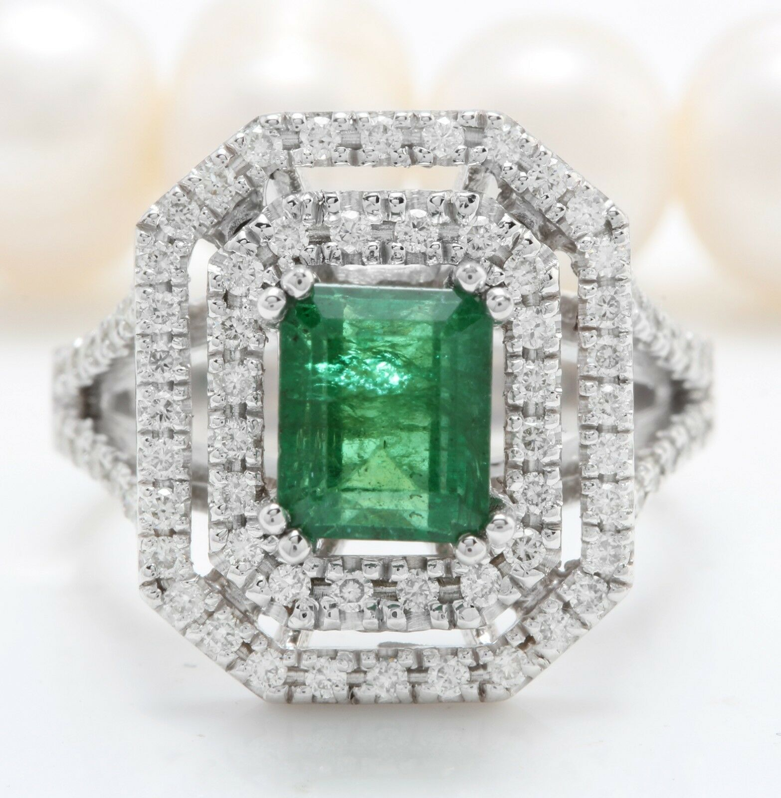 d172959c9373e in Diamonds and Emerald Natural 3.50 14K Carat Ring Women's gold ...