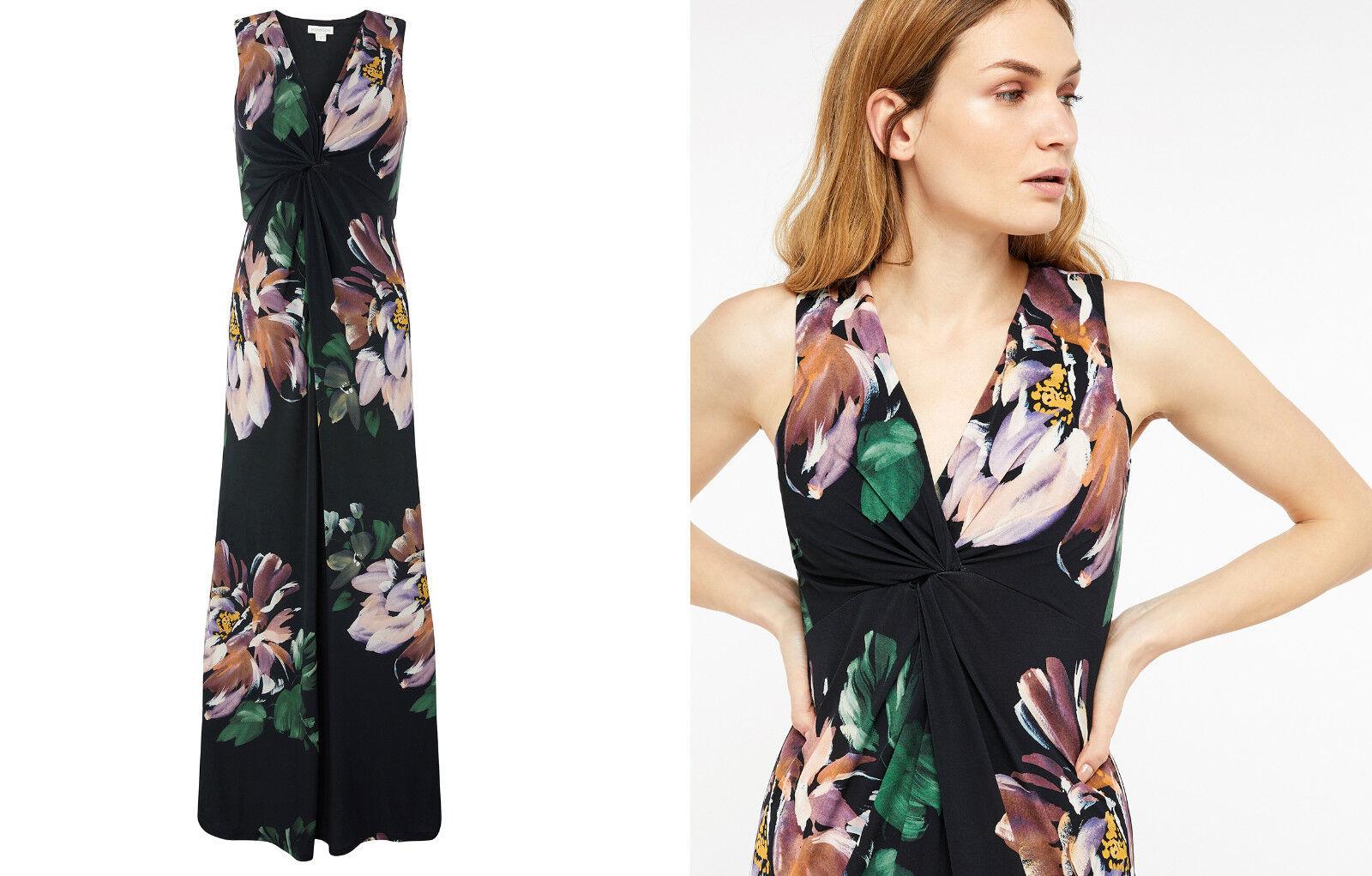 New Monsoon Floral  Maxi Evening Dress sz 12 Wedding Coast