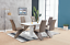 thumbnail 3 - High-Gloss-Dining-Table-Set-And-6-Chrome-Leather-Dining-Chairs