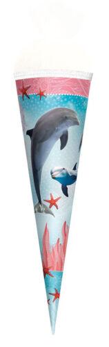 Roth Schultüte Delfin mit Seesternen Zuckertüte Schulanfang Einschulung Schule