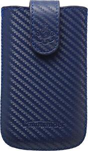 COMMANDER-Tasche-Elegance-fuer-HTC-Sensation-CARBON-Size-L-blau-Etui-Huelle-Case