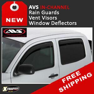 Rain Guards Sun Visor Deflector /& Sunroof 5pcs 04-12 Chevrolet Colorado Crew Cab