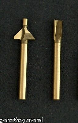 "NEW DREMEL TRIO ROUTER BITS TR618 CHAMFER  AND TR654 1/4"" STRAIGHT"