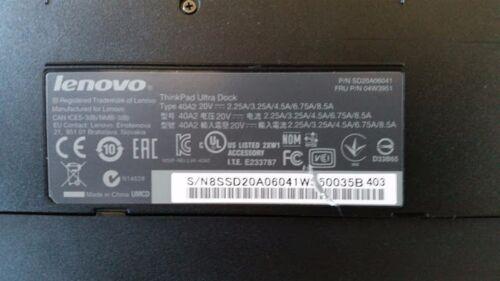 Lenovo ThinkPad Ultra Dock 40A2 04w3951 T440 X240 T540 L540 L460 T460 T560 key