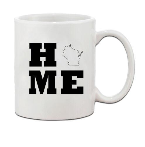 Home Wisconsin Ceramic Coffee Tea Mug Cup