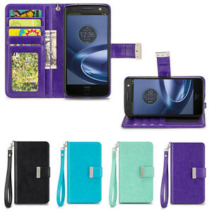 IZENGATE-ID-Cell-Phone-Folio-Wallet-Case-Flip-Cover-PU-Leather-with-Card-Slots
