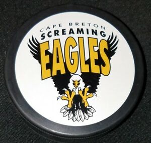 CAPE-BRETON-SCREAMING-EAGLES-LHJMQ-INGLASCO-SLOVAKIA-HOCKEY-PUCK-QUEBEC-JR