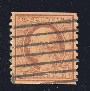 US-Sello-495-4c-Washington-Bobina-XF-Usado-Graded-90