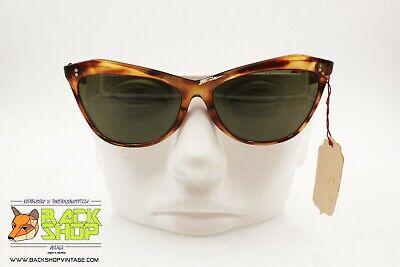 Costante Nilsol Authentic 1960s Women's Sunglasses, Tortoise Brown Cat Eye Made In Italy Promuovi La Produzione Di Fluidi Corporei E Saliva