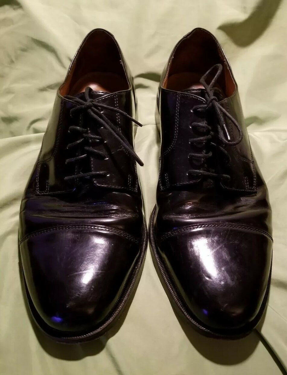 COLE HAAN hommes LACE-UP Formal DRESS chaussures 10.5 D noir Leather Made in India