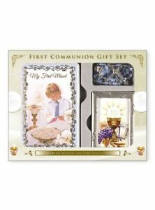 Image is loading Boys-First-Holy-Communion-Gift-Set-with-Missal-