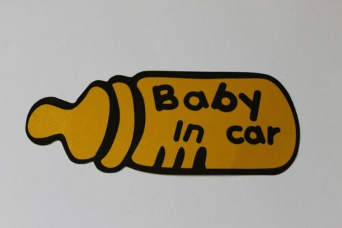 Baby In Car Baby on board Milk Bottle Car Safety Decal Sticker