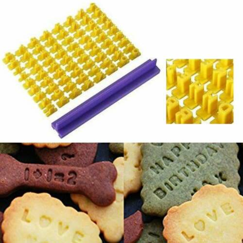 UK Alphabet Number Letter Biscuit Fondant Cake Pastry Cookie Stamp Impress Mold